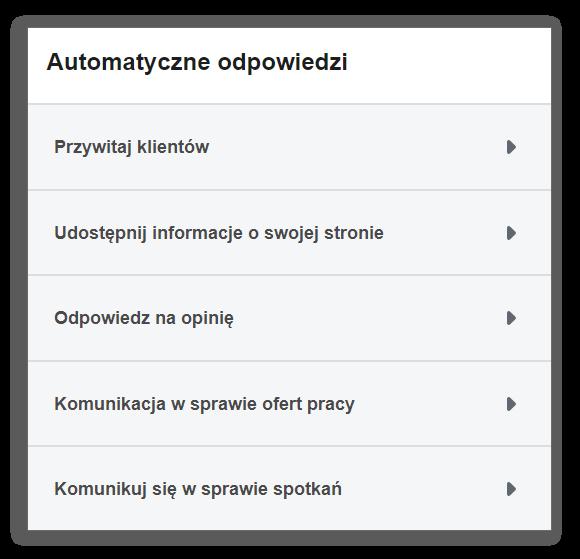 Automatyczne odpowiedzi na Messengerze